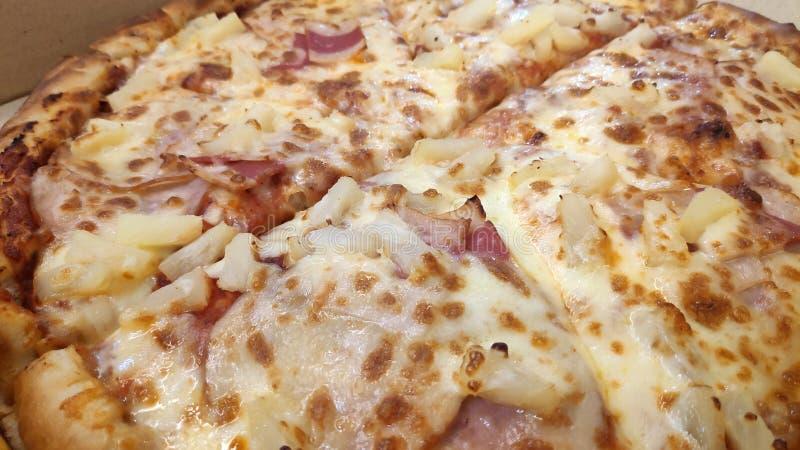 Hawaiian Italian pizza stock photos