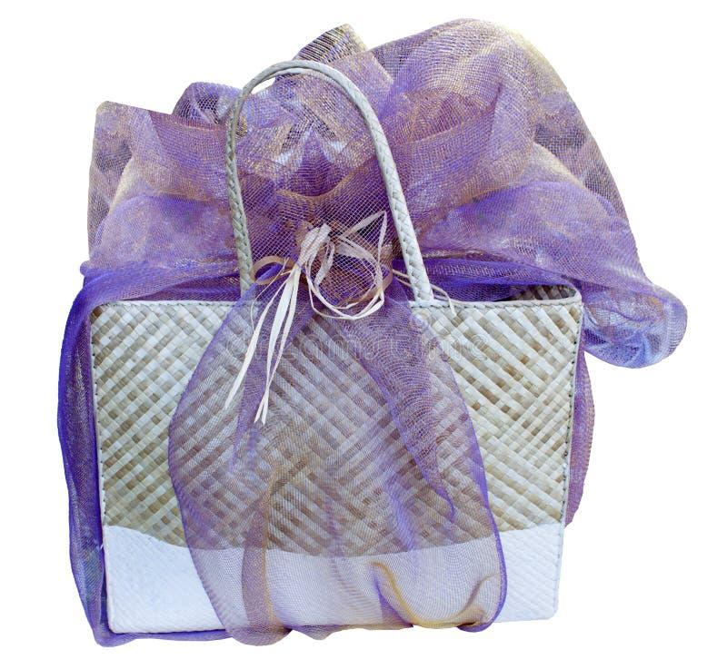 Download Hawaiian lauhala gift bag stock photo. Image of wrap - 16517038