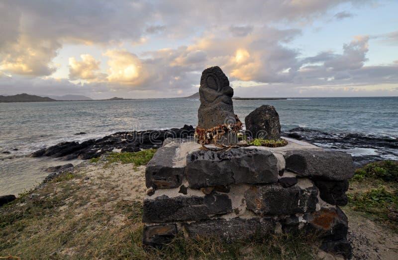 Download Hawaiian Lava Rock Idols And The Ocean Stock Image - Image of lava, green: 12533609
