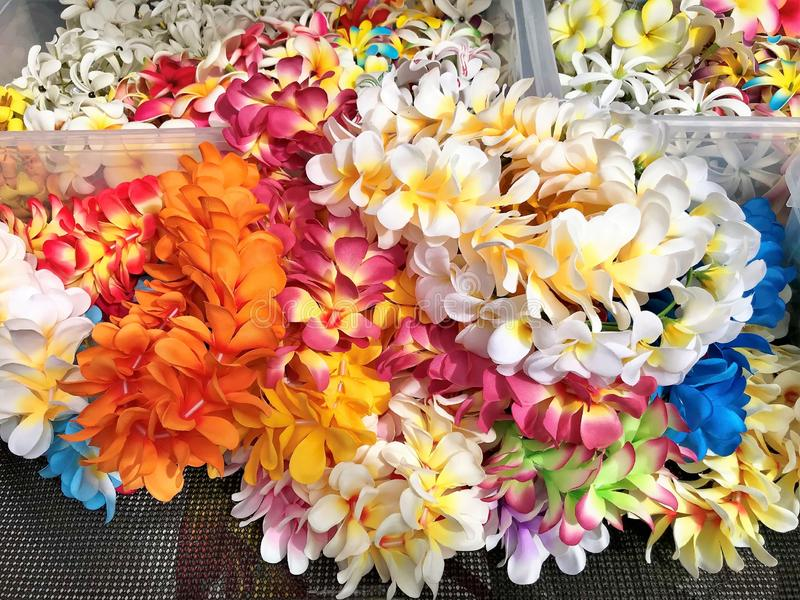 Hawaiian Lei Party Luau Floral Plumeria Flower Dance Hawaii Pink Yellow White