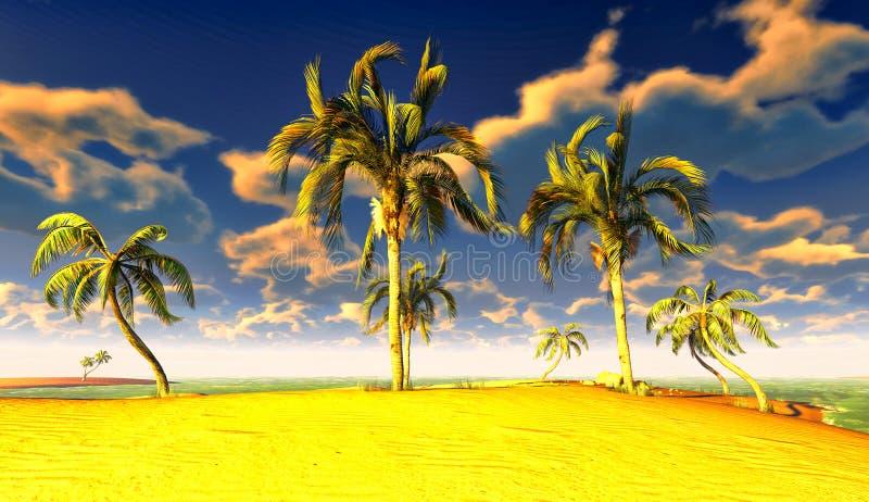 Download Hawaiian paradise stock illustration. Image of coast - 23509442