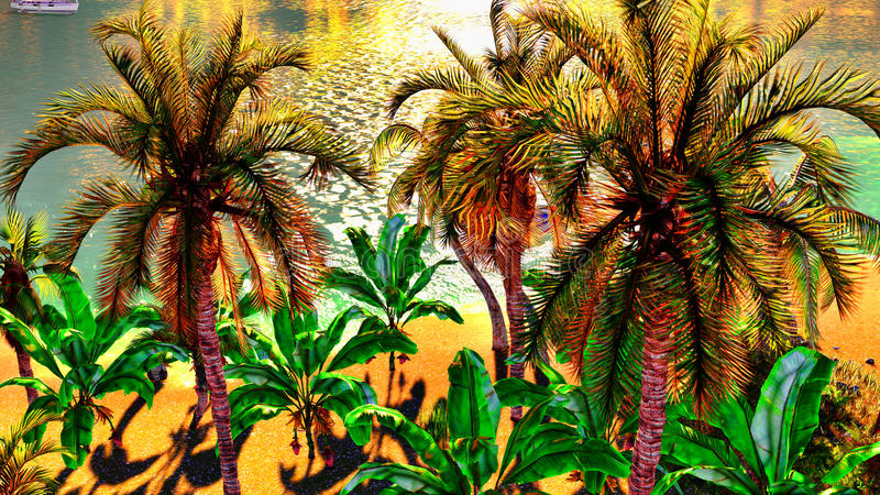 Download Hawaiian paradise stock illustration. Image of atoll - 23512908