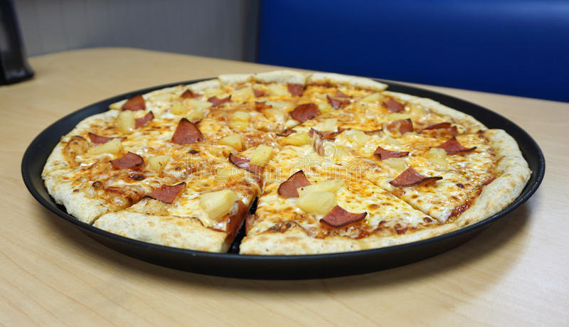 Hawaiian Pizza royalty free stock image