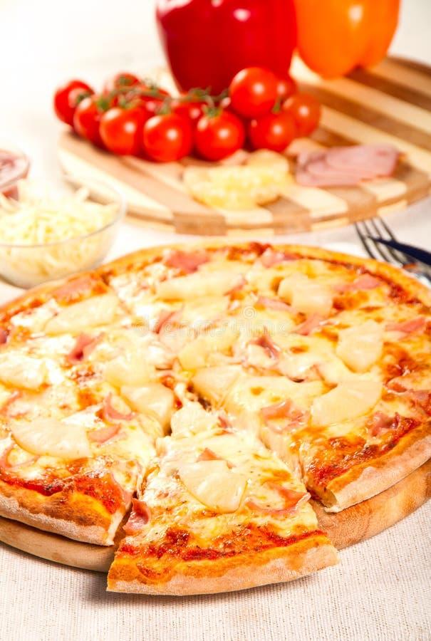 Hawaiian pizza royalty free stock photography