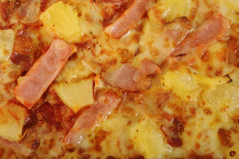 Hawaiian pizza stock image