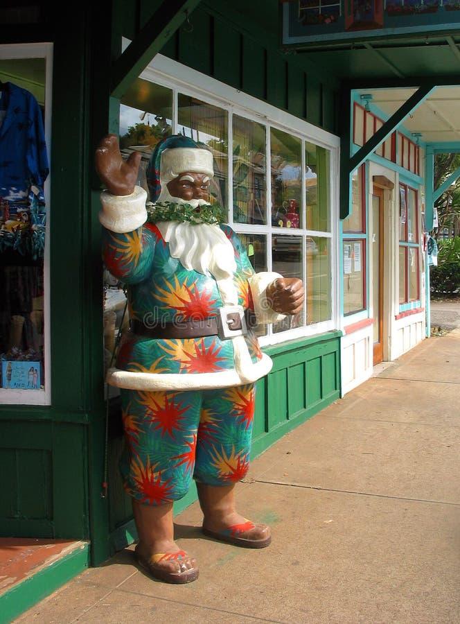 Hawaiian Santa royalty free stock photos