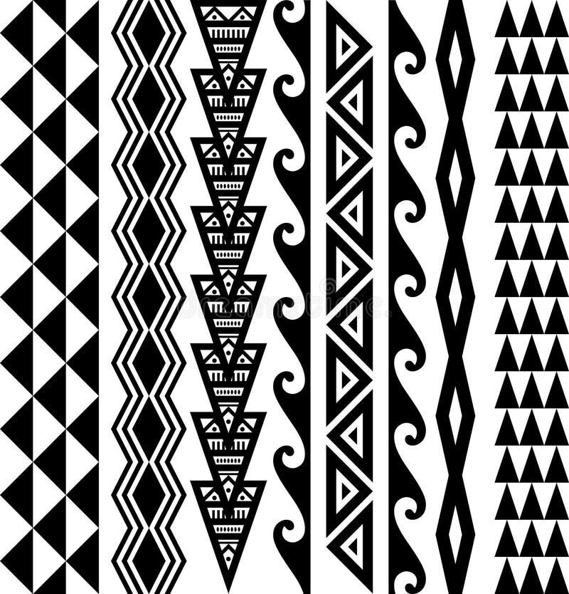 Free Hawaiian Seamless Tattoo Pattern Stock Image - 98561361