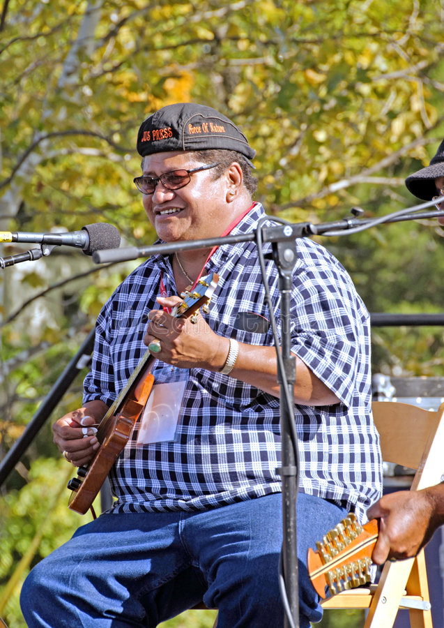 Free Hawaiian Slack Key Guitarist Ledward Kaapana Stock Photo - 8427420