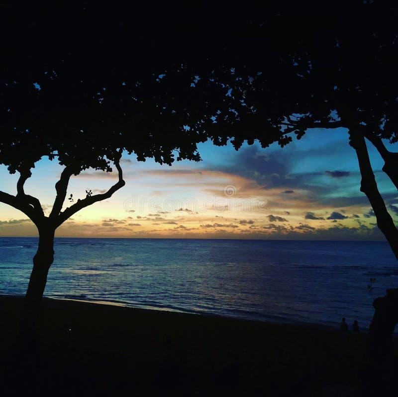 Hawaiian sunset royalty free stock images