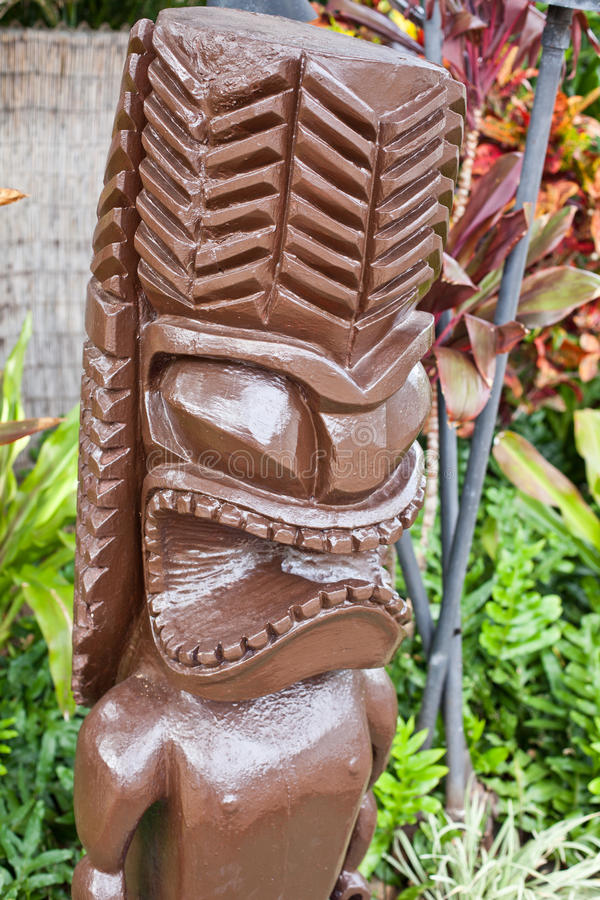 Hawaiian Tiki. This image shows a lucky tiki royalty free stock photography