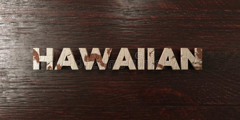 Hawaiibo - grungy trärubrik på lönn - 3D framförd fri materielbild för royalty stock illustrationer