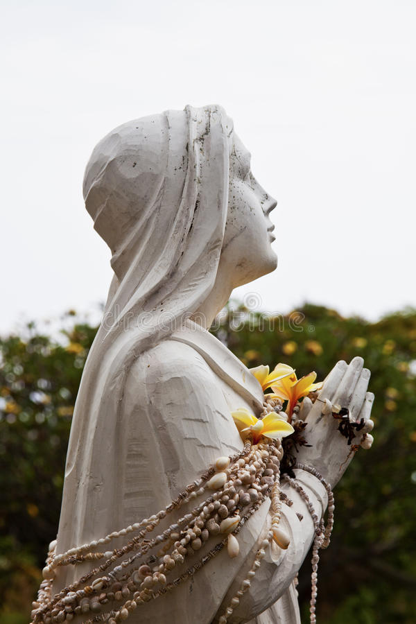 Hawaiin Mary z skorup Lei obrazy stock