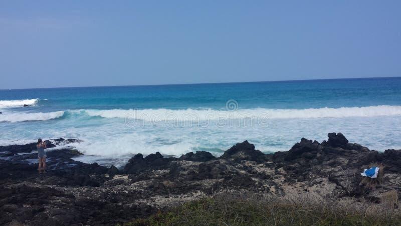 Hawaiische Küstenlinie lizenzfreies stockbild