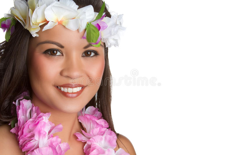 Hawaiische tropische Frau lizenzfreie stockfotos