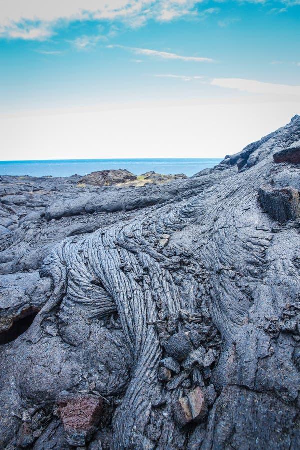 Hawaiischer Lavafluß lizenzfreie stockfotografie