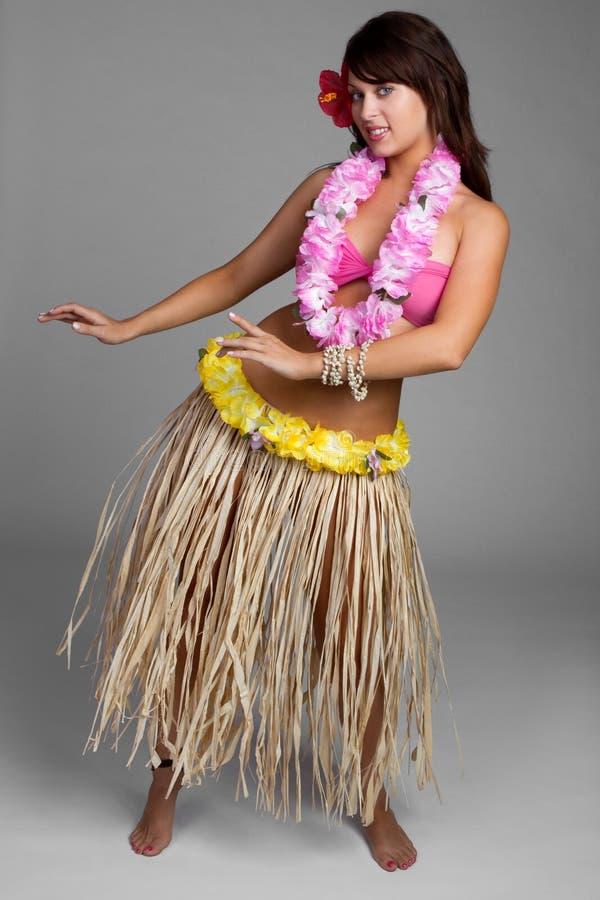 Hawaiisches Hula Mädchen lizenzfreies stockfoto