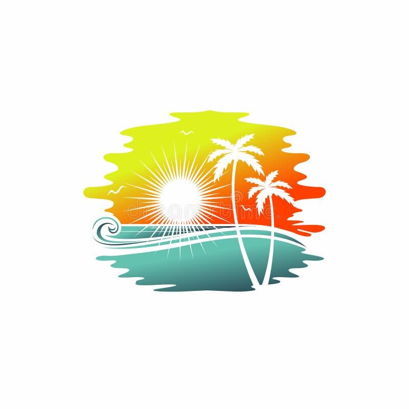 Hawaistrand royalty-vrije illustratie