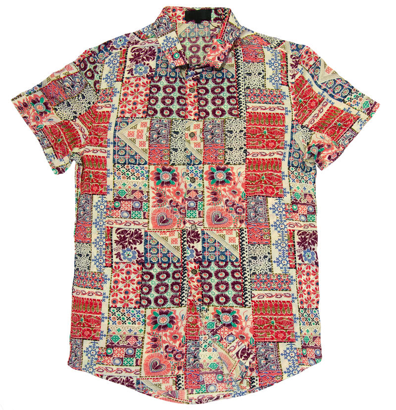 Hawajczyk barwiona koszula zdjęcia stock