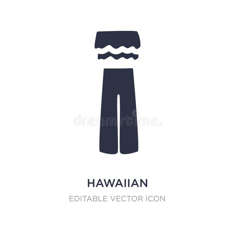 hawajczyk ikona na białym tle Prosta element ilustracja od mody pojęcia ilustracji