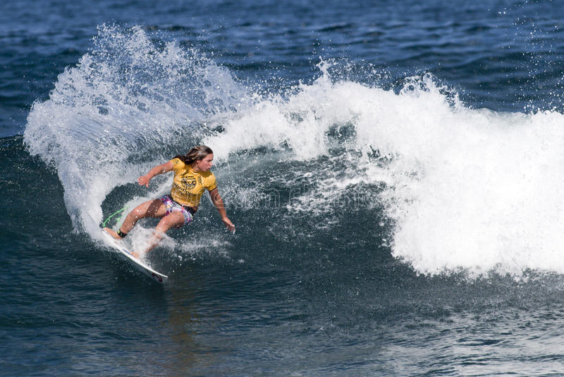 hawajczyka pro surfingu tyler kobiet Wright obrazy royalty free