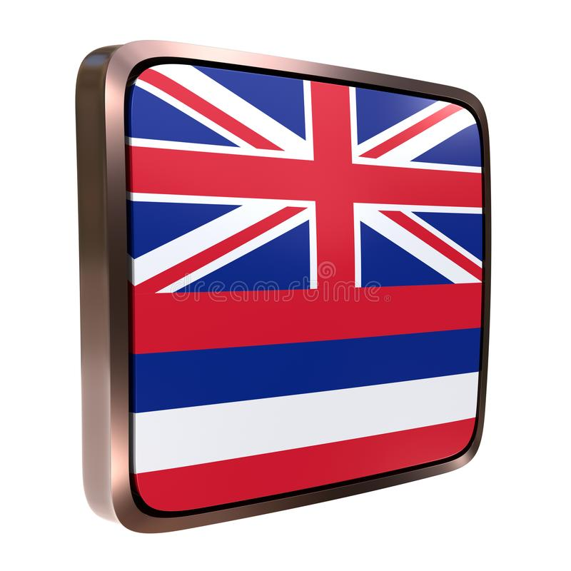 Hawaje flaga ikona royalty ilustracja