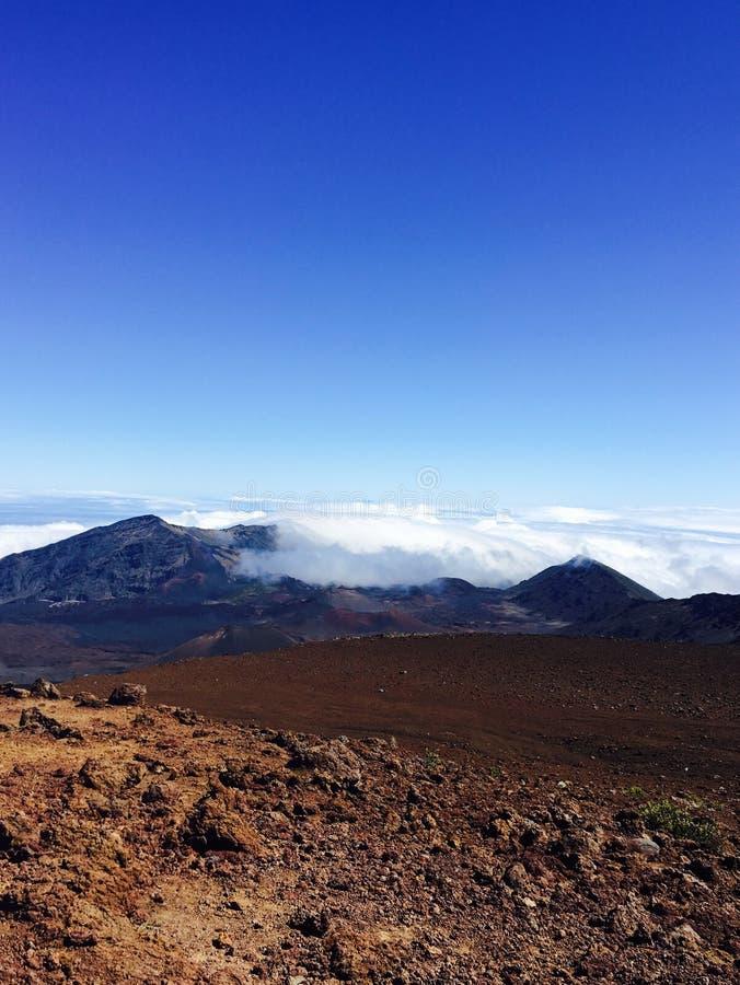 Hawaje Maui Nad chmury fotografia royalty free