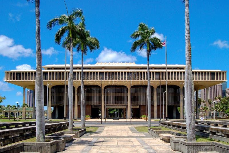 Hawaje stanu Capitol - Honolulu zdjęcia royalty free