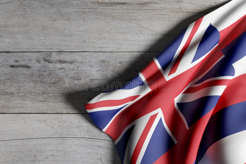 Hawaje stanu flaga royalty ilustracja