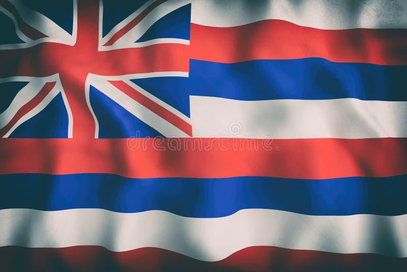 Hawaje stanu flaga ilustracji