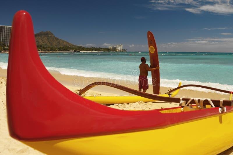 Hawaje Waikiki Plaża - zdjęcia royalty free