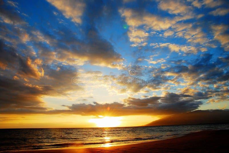 Hawaje zmierzch obrazy royalty free
