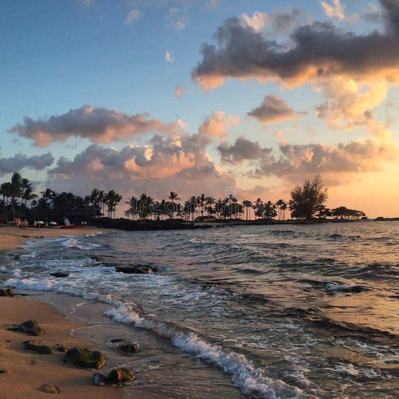 Hawaje zmierzch fotografia stock