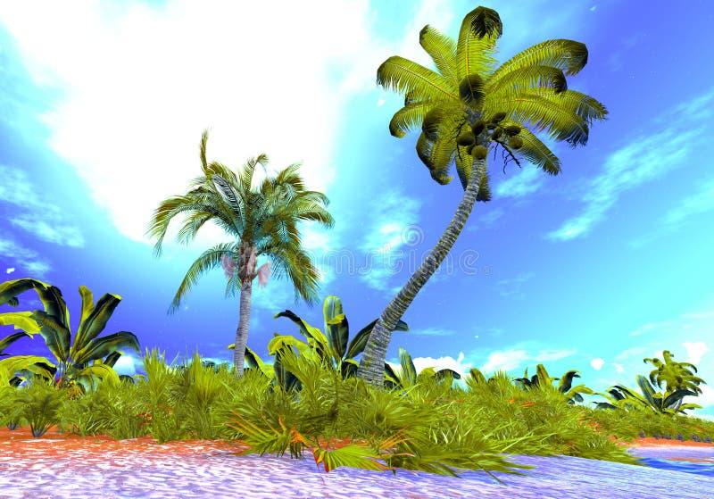 Download Hawajski raj ilustracji. Ilustracja złożonej z plaża - 28956511