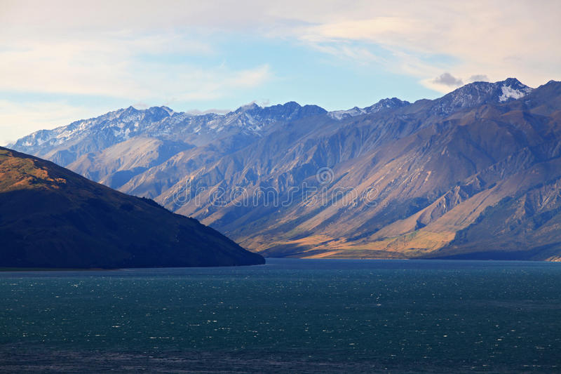 hawea湖新西兰 免版税库存照片