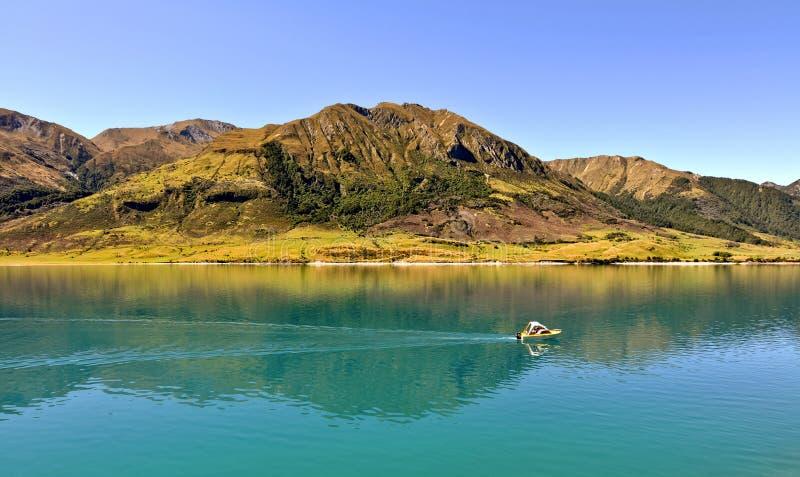 Hawea See, Neuseeland lizenzfreies stockfoto