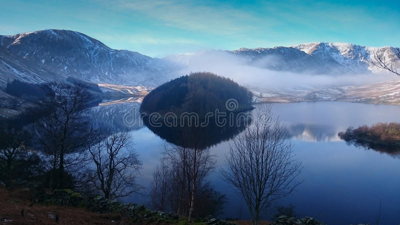 Haweswater Reservoir, English Lake District National Park. Haweswater reservoir, English Lake District, National Park, Valley of Mardale, County Cumberia. In stock photo