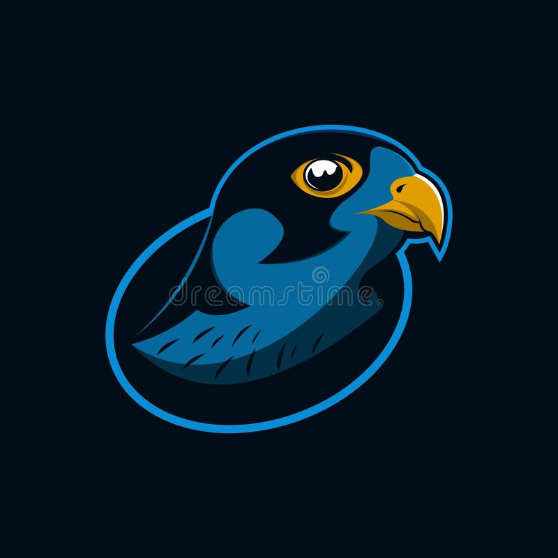 Hawk eagle head mascot logo vector illustration stock illustration