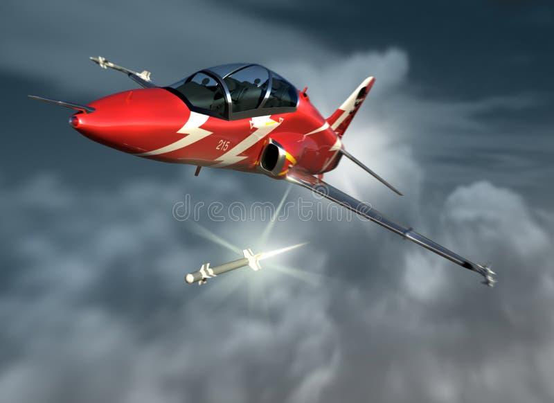 Hawk el combatiente ilustración del vector