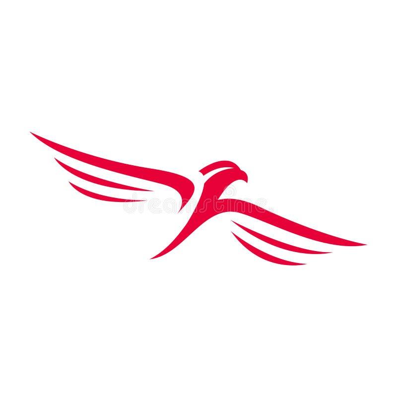 Hawk Falcon Eagle vector Logo design icon illustration Template stock illustration