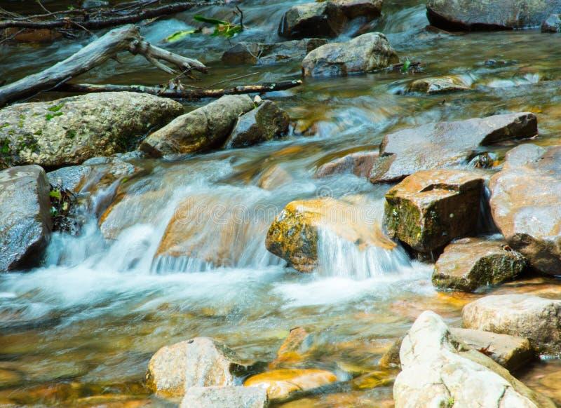 Hawk Falls vaggar på hickorykörningsdelstatsparken i PA royaltyfri bild