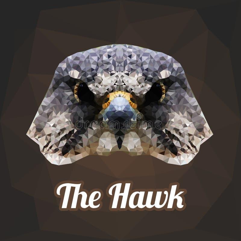 Hawk Head Polygon Vetora ilustração do vetor