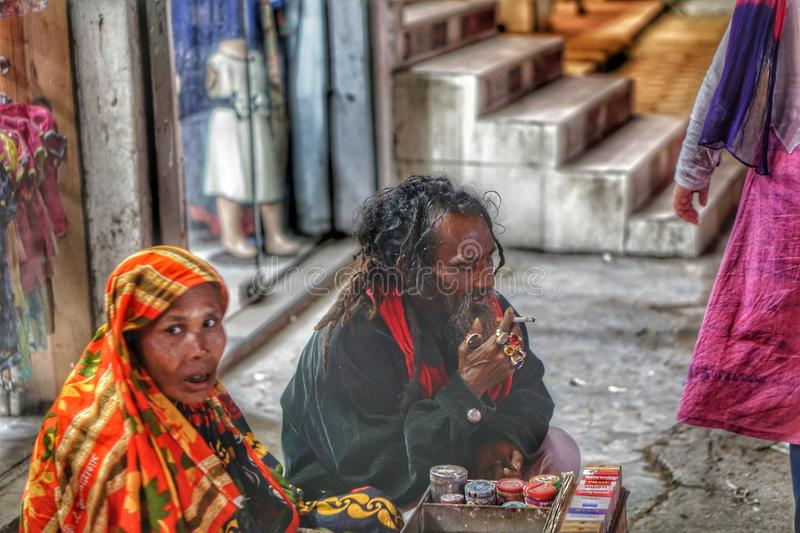 Hawkers in Dhaka stock images