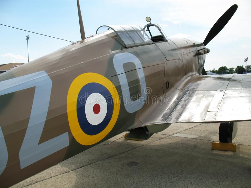 Hawker Hurricane Fighter Plane royalty free stock images