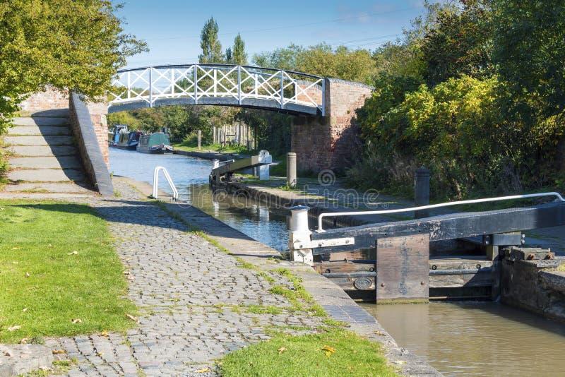 Hawkesbury-Sieltief-Verschlüsse und Brücke lizenzfreies stockbild