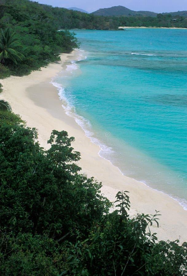 Hawksnest Beach on St John in the US Virgin Islands royalty free stock images