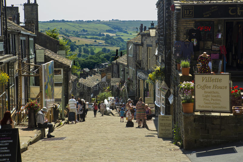 Haworth Main Street royalty-vrije stock fotografie