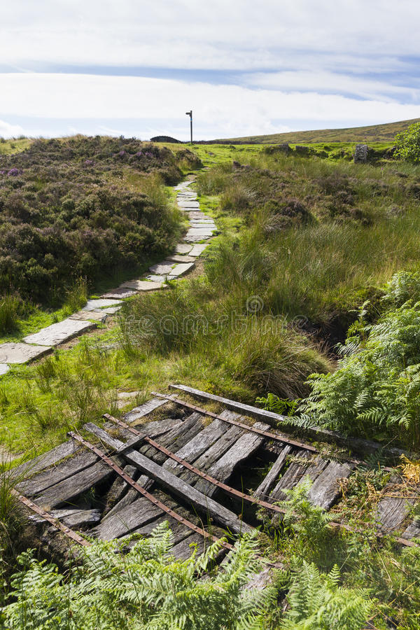 Haworth Moor. Wuthering Heights, Bronte Country. Yorkshire. England. royalty free stock image