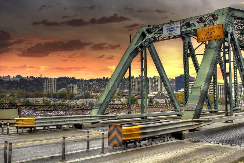 hawthorne Орегон portland моста стоковое изображение rf