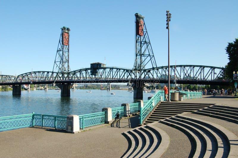 Hawthorne Bridge di Portland, Oregon fotografia stock libera da diritti