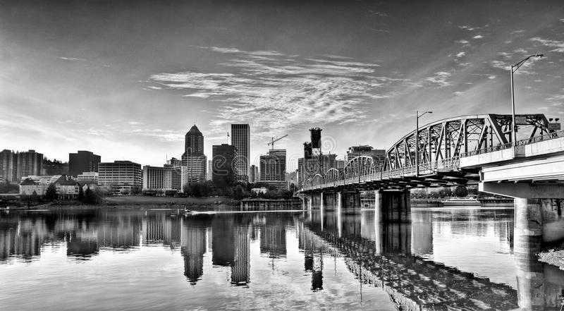 Hawthorne Bridge Portland Oregon royalty free stock photo
